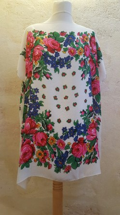 Tunique-Soul-of-Women-fleurs-multicolores-blanc