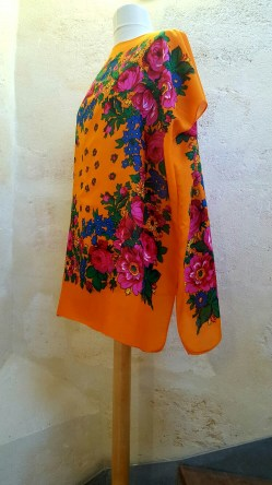 Tunique-Soul-of-Women-fleurs-multicolores-orange