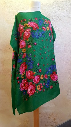 Tunique-Soul-of-Women-fleurs-multicolores-vert