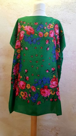 Tunique-Soul-of-Women-fleurs-multicolores-verte